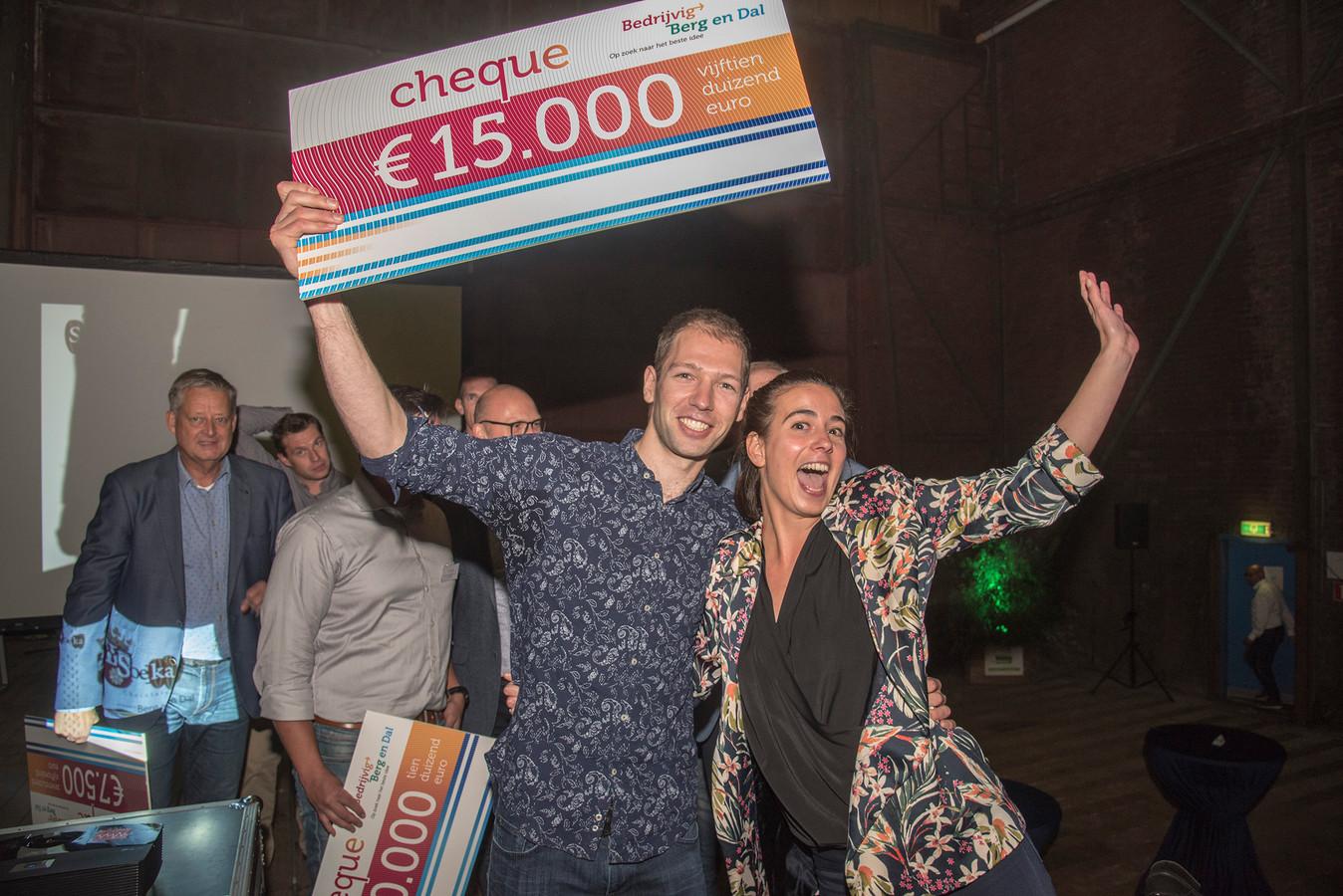 Lisa Storms en Guus Baarends hebben volgens de jury het beste idee.