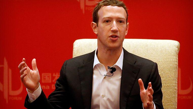 Facebookbaas Mark Zuckerberg. Beeld AP