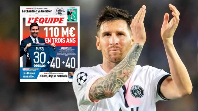 Franse krant L'Équipe onthult 'XXL-salaris' van Lionel Messi bij PSG