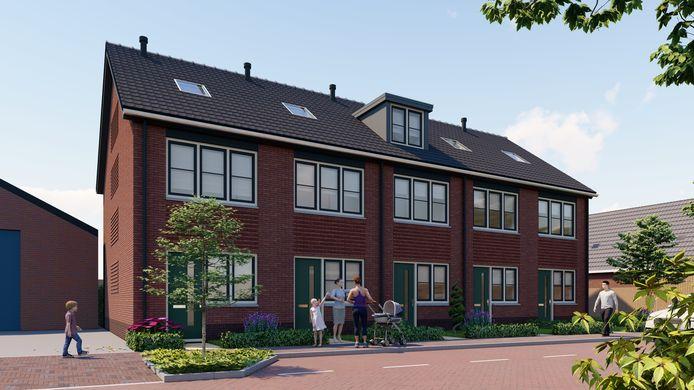De artist's impression van het project Rijndijk in Nieuwerbrug.