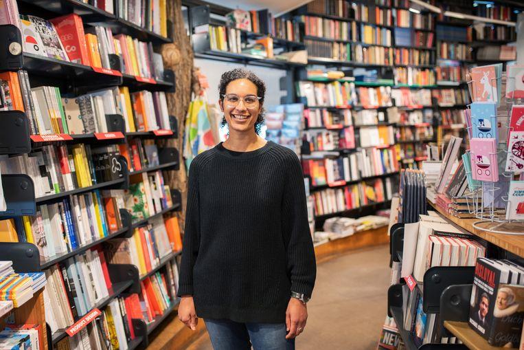Natalia Lloyd van The American Book Center in Amsterdam.  Beeld Sabine van Wechem