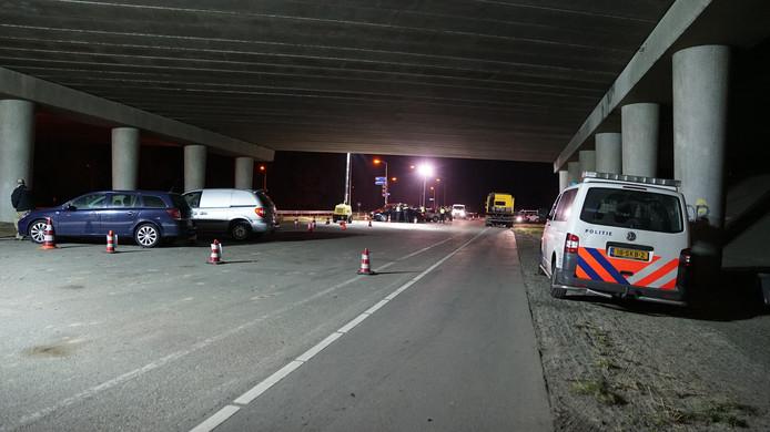 De controle werd deels onder de A1 uitgevoerd.