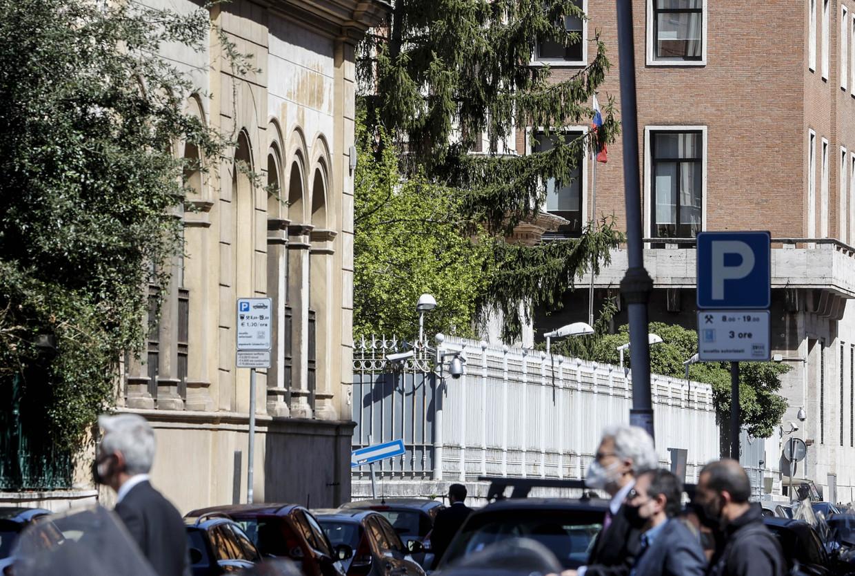 De Russische ambassade in Rome Beeld Anadolu Agency via Getty Images