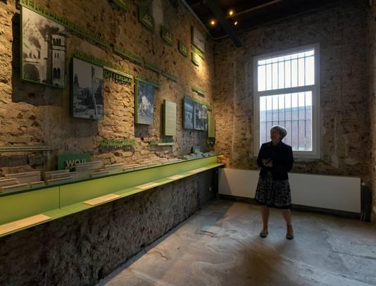 Impressie van de tentoonstellingsruimten in het Nationaal Monument Oranjehotel in Scheveningen.