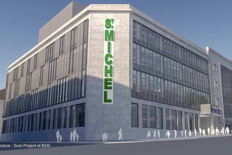 Dit is hoe het Saint-Michelgebouw er in de toekomst uit zal zien.