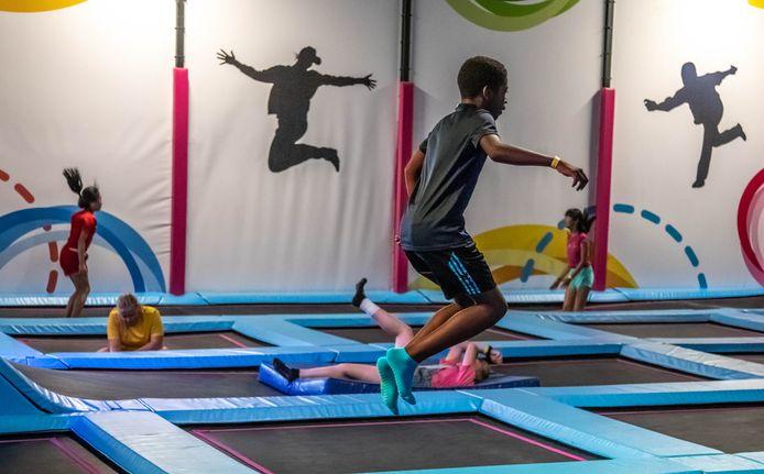 Trampoline springen tijdens de KUSZ-week in 2019.