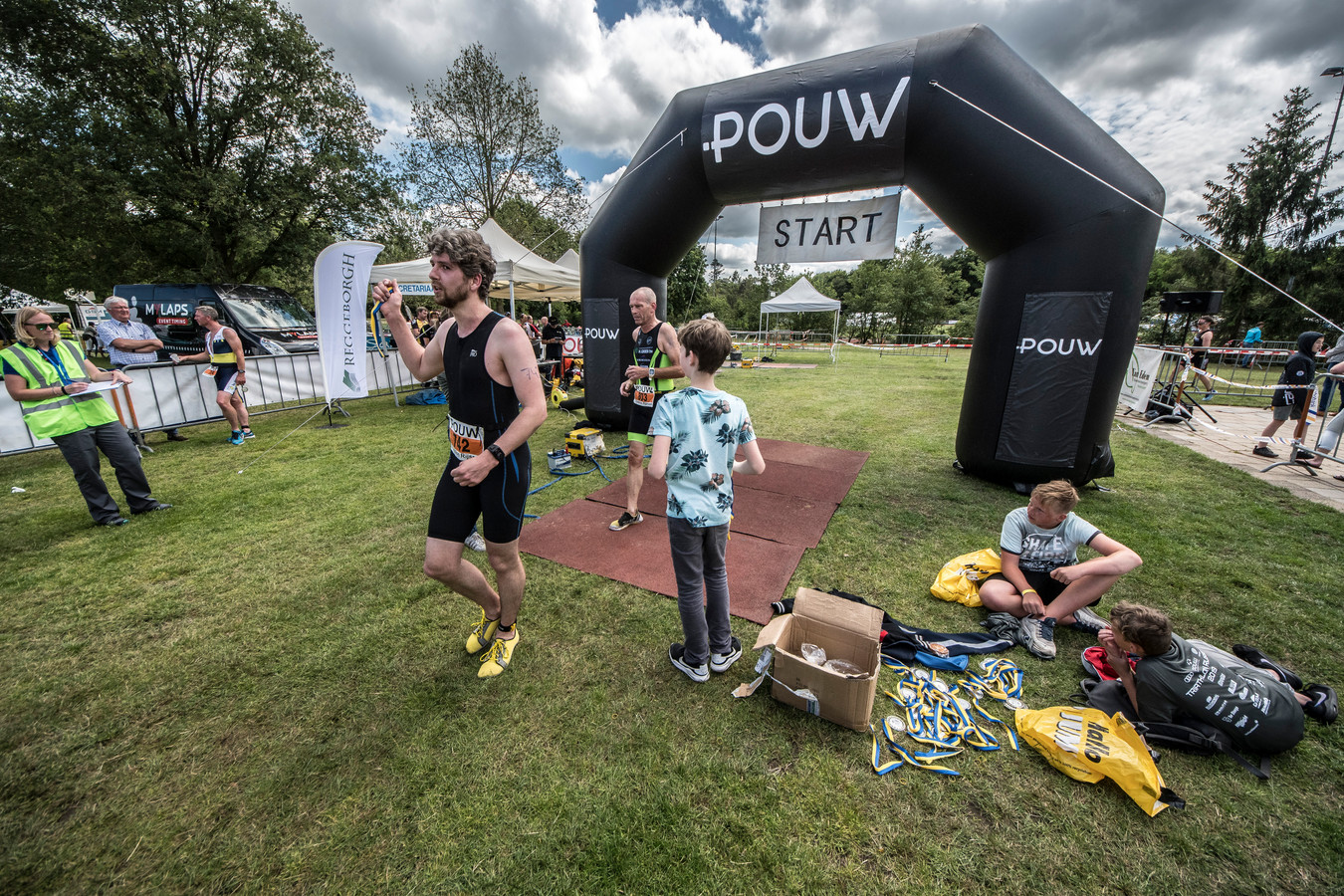 Het weer was perfect voor de 27ste editie van de Pouw Triathlon in Rijssen.