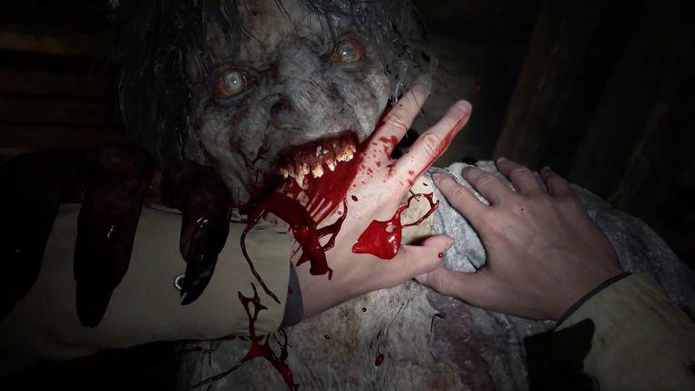 Een monster uit het computerspel Resident Evil. Beeld