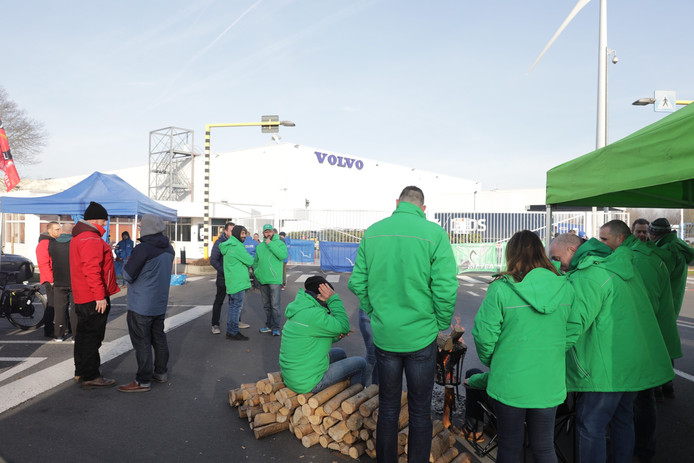 Staking bij Volvo Trucks
