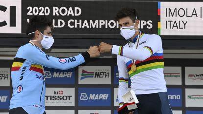 Geen goud voor Wout: Van Aert moet vrede nemen met zilver op WK tijdrijden, thuisrijder Ganna grijpt wereldtitel