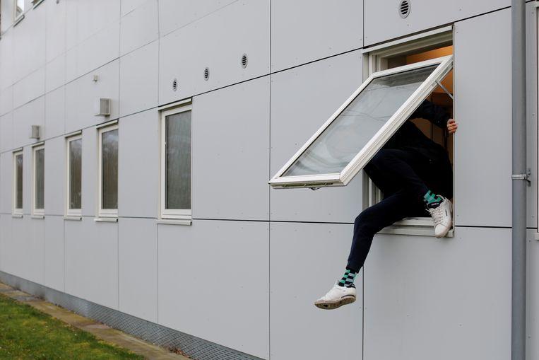 Voormalige gevangenis Kaershovedgaard, nu een centrum voor uitgeprocedeerde asielzoekers in Jutland, Denemarken.  Beeld Reuters