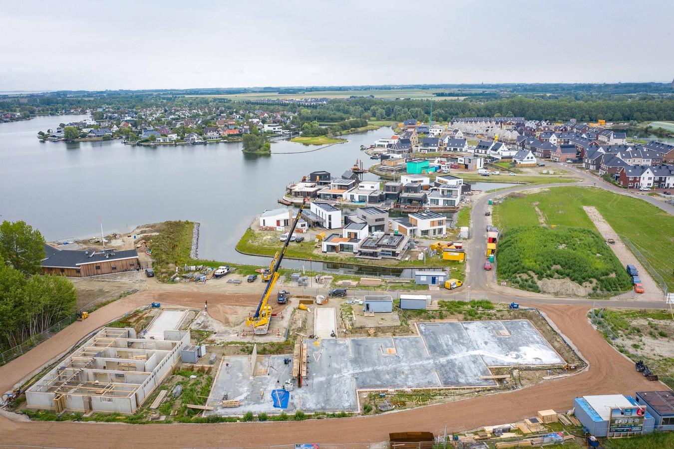 Nieuwbouwwijk Goese Diep in ontwikkeling. Goes is momenteel de snelst groeiende gemeente van Zeeland.