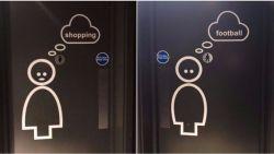 Seksisme of gewoon grappig? Hotel krijgt kritiek voor deze toiletdeuren