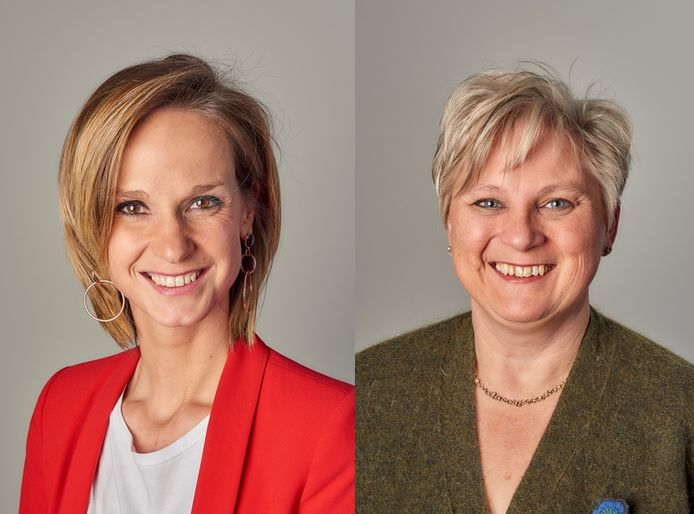 Loes Mispoulier (links) en Nancy Bleys (rechts) hebben elk ideeën over het woonbeleid