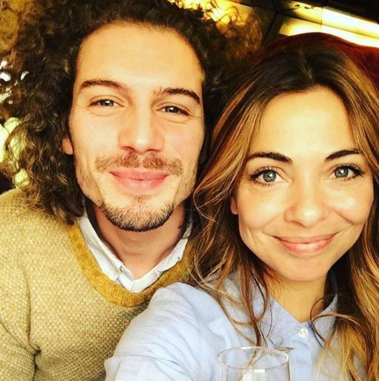 Actrice Georgina Verbaan met vriend op Instagram. Beeld Instagram