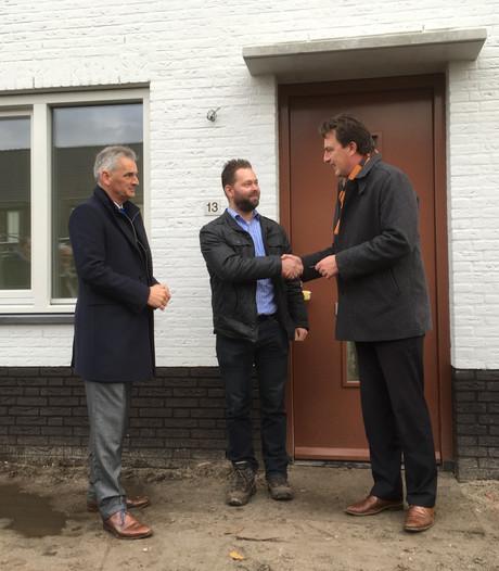 De bewoners kunnen in hun nieuwe energiezuinige woningen in Prinsenbeek