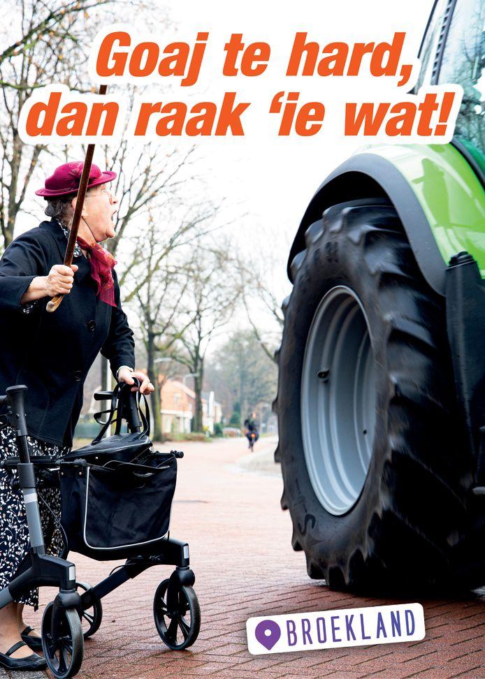 Nieuwe campagne in Broekland tegen te hard rijden.