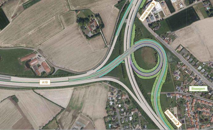 Een blik op de nieuwe verkeerswisselaar