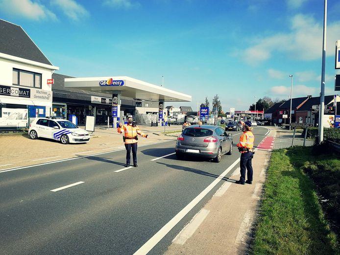 De lokale politie voerde een actie gericht tegen diefstallen.
