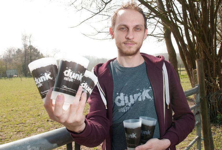 Organisator Wout Lievens van het Zottegemse Dunk Festival.
