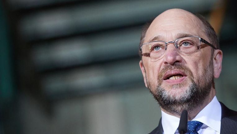 Vertrekkend partijvoorzitter Martin Schulz Beeld epa