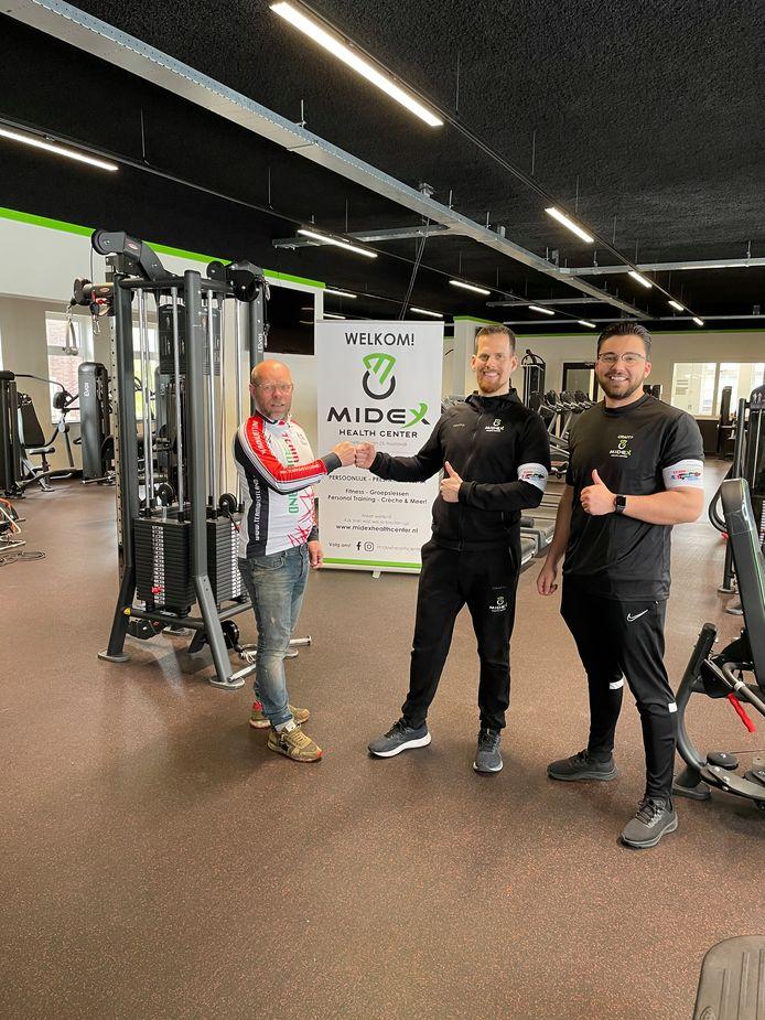 Barry Disselkoen (links) van Team Westland, Tom Schinkel en zijn compagnon Christo Bothma.
