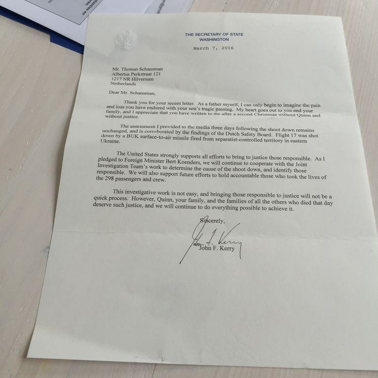 Antwoord van Kerry: ging niet eens in op de vraag Beeld null