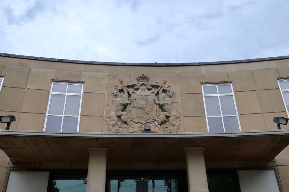 Het huidige gebouw van de Belgische ambassade.
