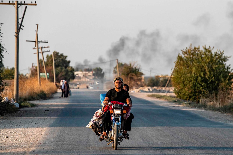 De eerste bombardementen op Noord-Syrië.