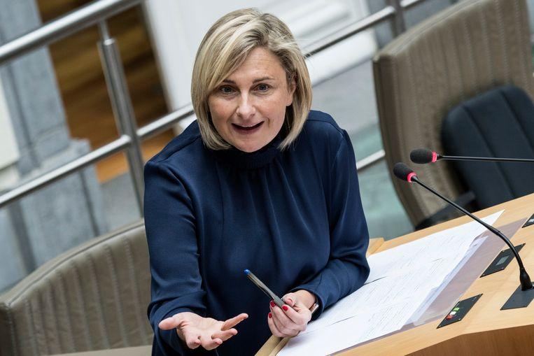 De Vlaamse Hogescholenraad is verbolgen dat minister van Onderwijs Hilde Crevits (CD&V) de Antwerpse Karel de Grote-Hogeschool vijf extra opleidingen wil gunnen. Beeld Photo News