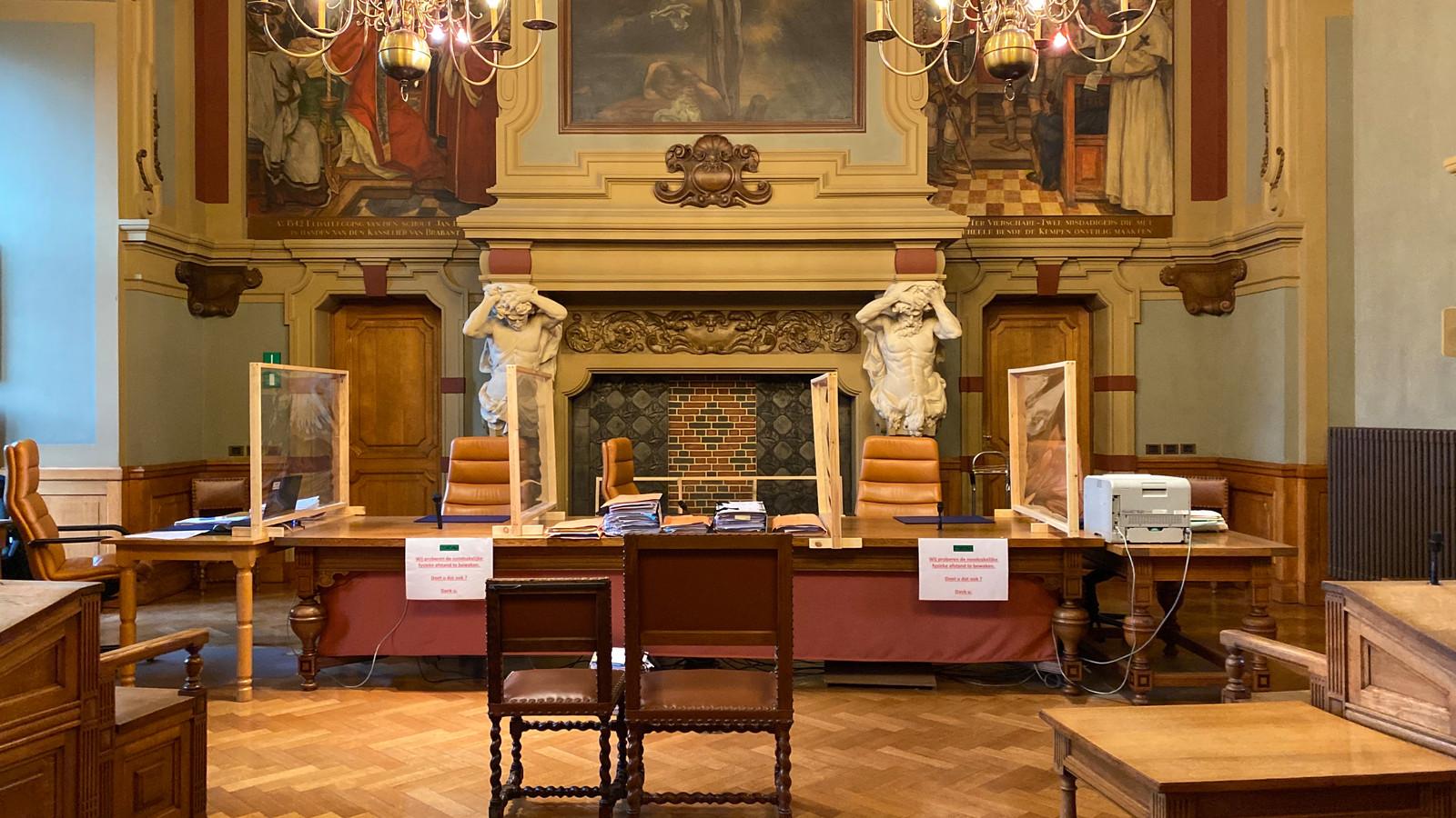 De zittingszaal van de correctionele rechtbank in Turnhout