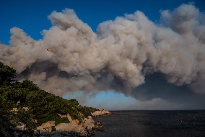 Les feux de forêt à La Couronne (Marseille), 4 août 2020