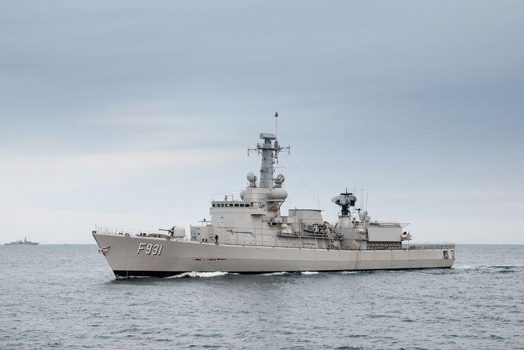 De Louise-Marie is een Belgisch polyvalent fregat dat de Belgische marine heeft aangekocht van de Nederlandse marine. Beeld BELGA