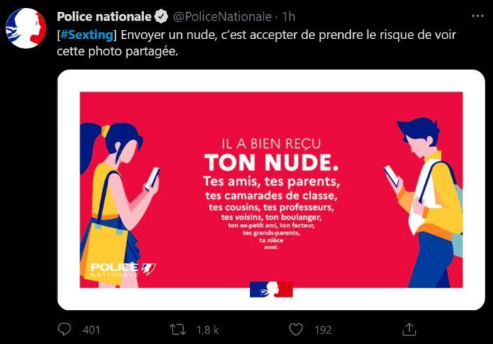 Le tweet de la police française qui passe mal.