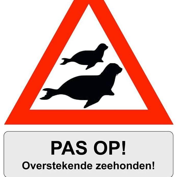 Dit bord heeft de politie bedacht.