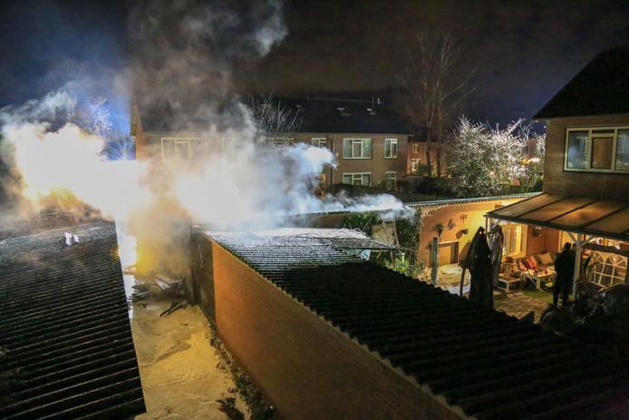 Flinke schade na een brand in Gemert.