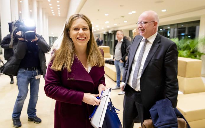 Minister Carola Schouten van Landbouw, Natuur en Voedselkwaliteit bij een overleg met boerenorganisaties vrijdagochtend.