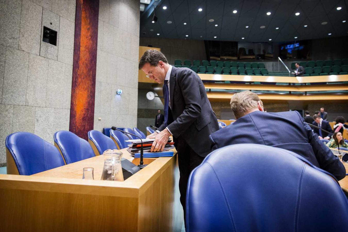 Een bewogen dag voor premier Rutte, minister Van der Steur en staatssecretaris Dijkhoff