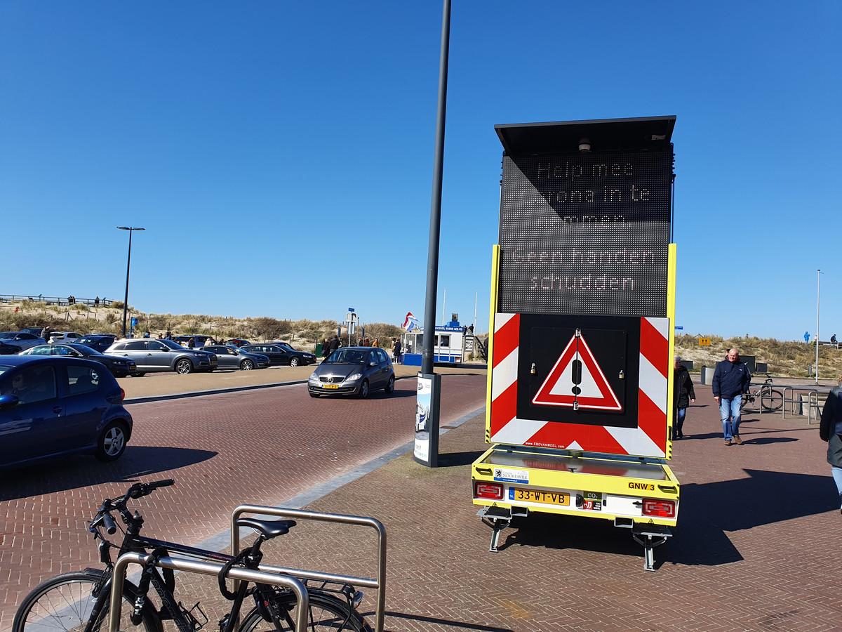 Waarschuwingsborden Noordwijk aan Zee.