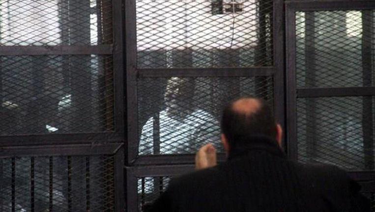 Leider van het Moslimbroederschap Mohammed Badie tijdens het proces Beeld PHOTO_NEWS