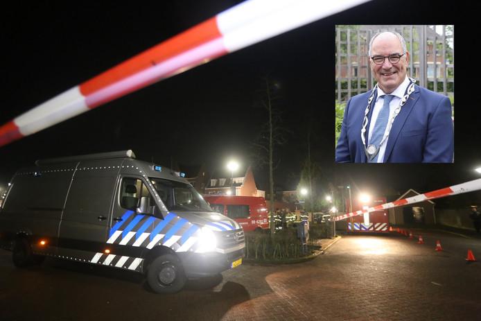De EOD in Kerkdriel. Inzet: burgemeester Henny van Kooten