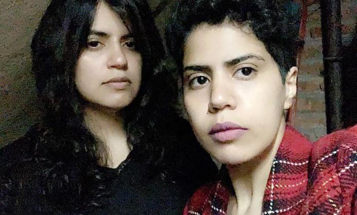 Maha (links) en haar zus Wafa Alsubaie zijn gevlucht naar Georgië.