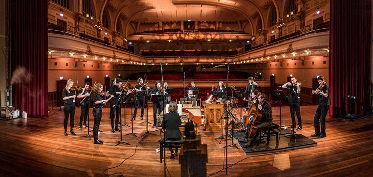 Holland Baroque speelt in De Vereeniging in Nijmegen. Beeld Wouter Jansen