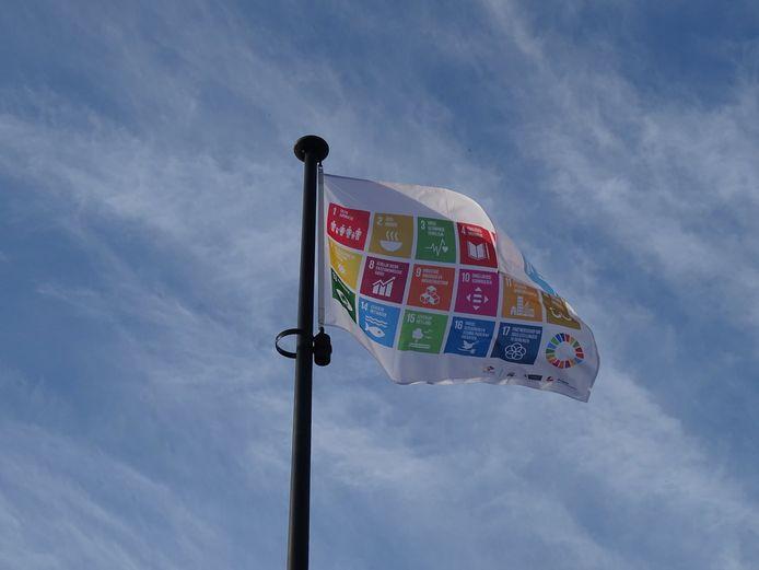 Vlag van de duurzaamheid.