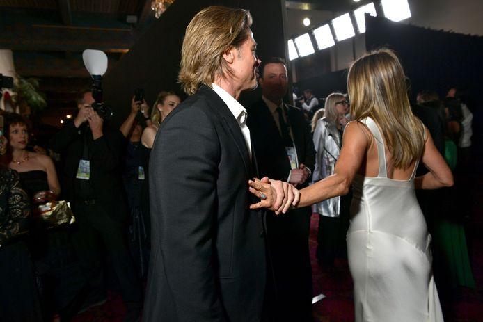 Deze foto van Brad en Jennifer houden heel wat fans in de ban.