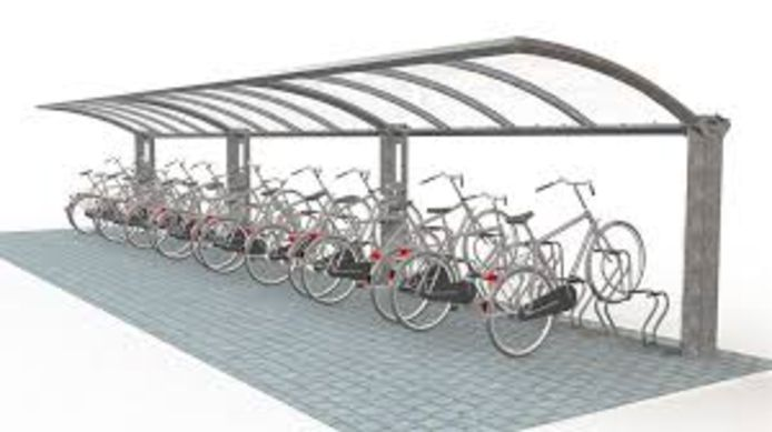 De tijdelijke fietsenstalling blijft nadien bestaan.