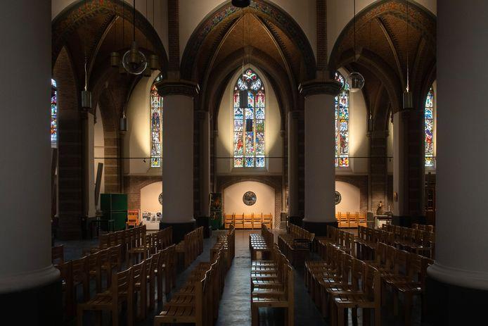 De lege St. Jansbasiliek in Oosterhout.