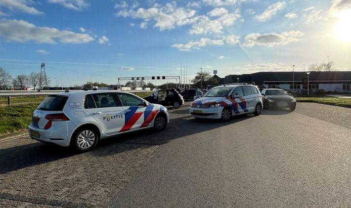 De gestolen auto werd op parkeerplaats Struik tot stilstand gebracht.