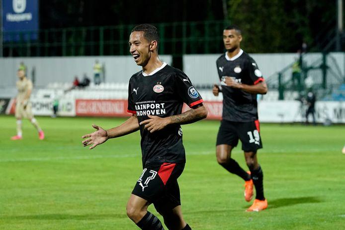 Mauro Júnior scoorde donderdag voor PSV.