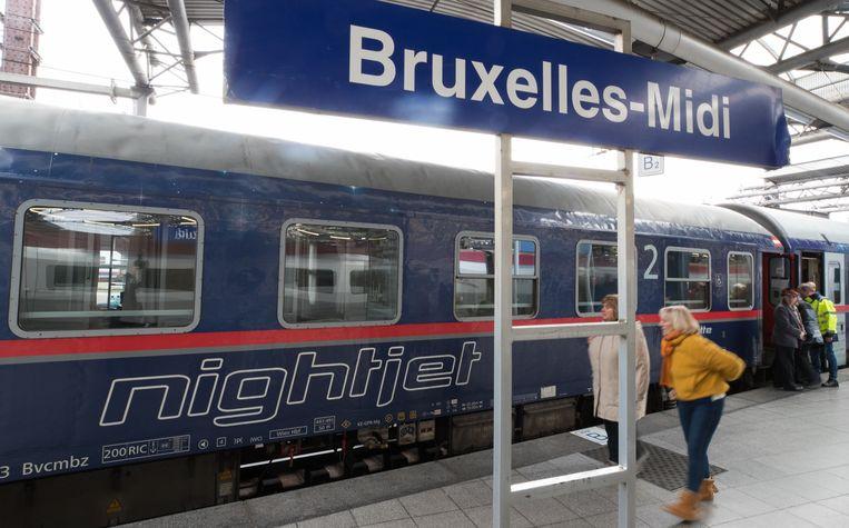In januari van dit jaar werd er opnieuw een nachttreinverbinding ingelegd tussen Brussel en Wenen.  Beeld BELGA